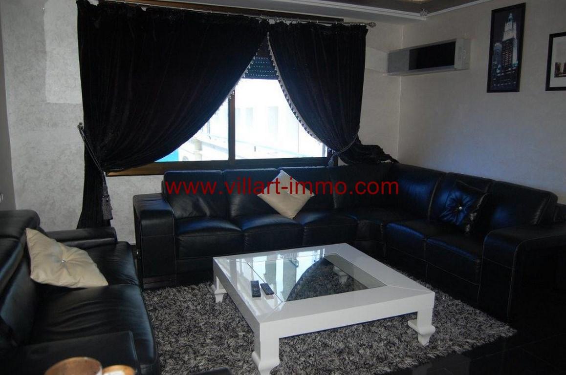 1-Location-Appartement-Meublé-Malabata-Tanger-Salon-Agence-L1056