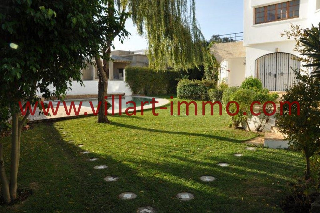 12-Location-villa-Tanger-non meublée-Boubana-jardin-LV152