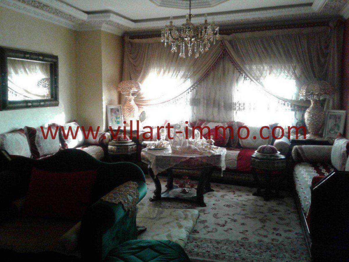 1-Vente-Appartement-Tanger-Salon-VA529-Villart Immo