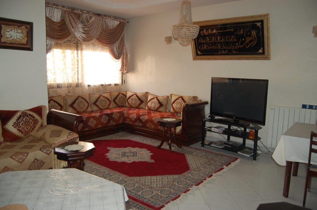 1-Location-Appartement-Meublé-F3-Courte durée-Salon-Agence immobiliere-Tanger-LSAT1083
