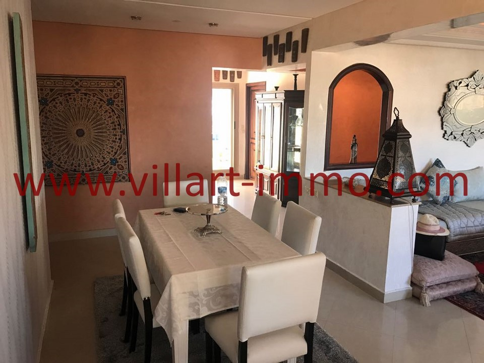1-To let-Apartment-Tangier-Furnished-Ibéria-Dining room-L1084