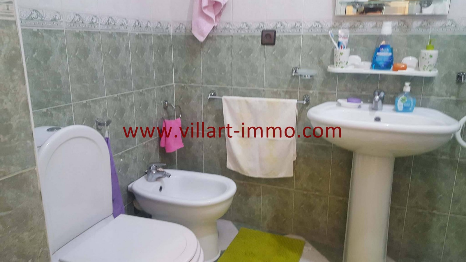 10-Vente-Appartement-Centre-ville-Tanger-Salle de bain-VA531-Villart Immo