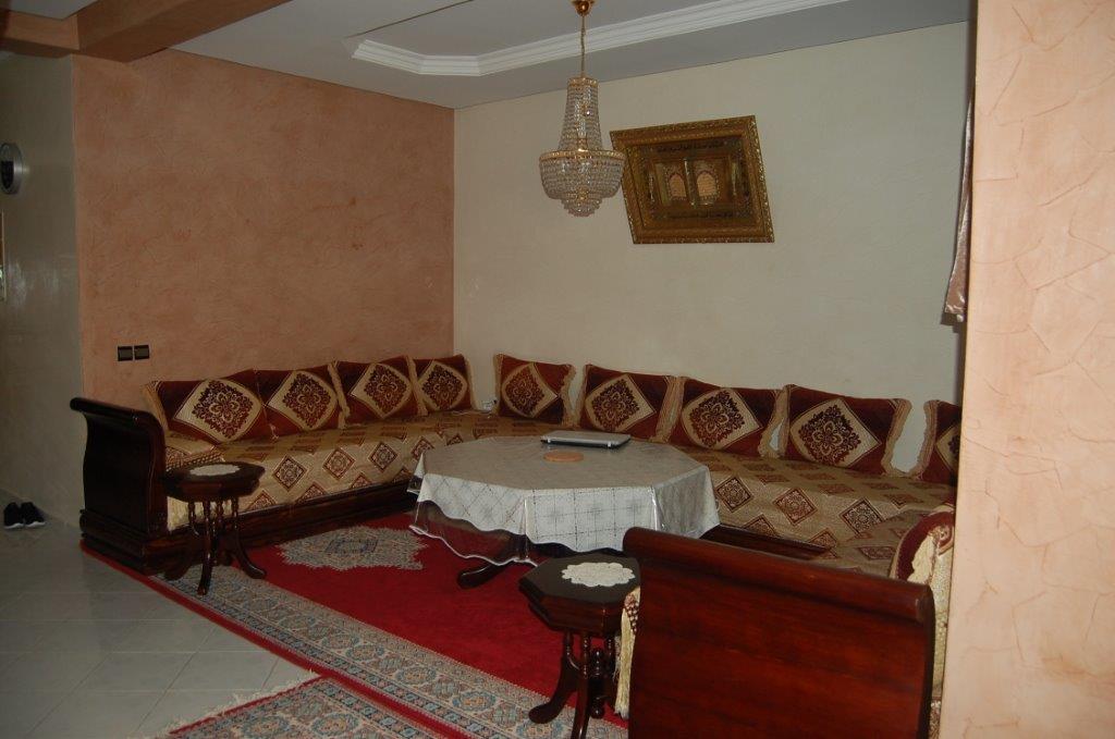 2-Location-Appartement-Meublé-F3-Courte durée-Salon-Agence immobiliere-Tanger-LSAT1083