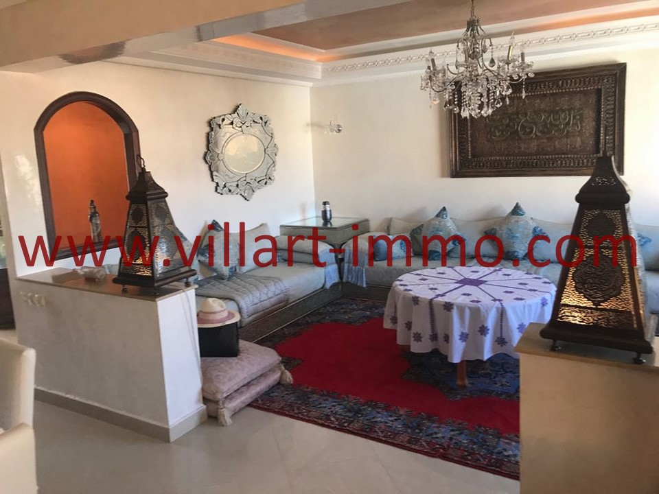 2-Location -Appartement-Tanger-Meublé-Ibéria-Salon-L1084