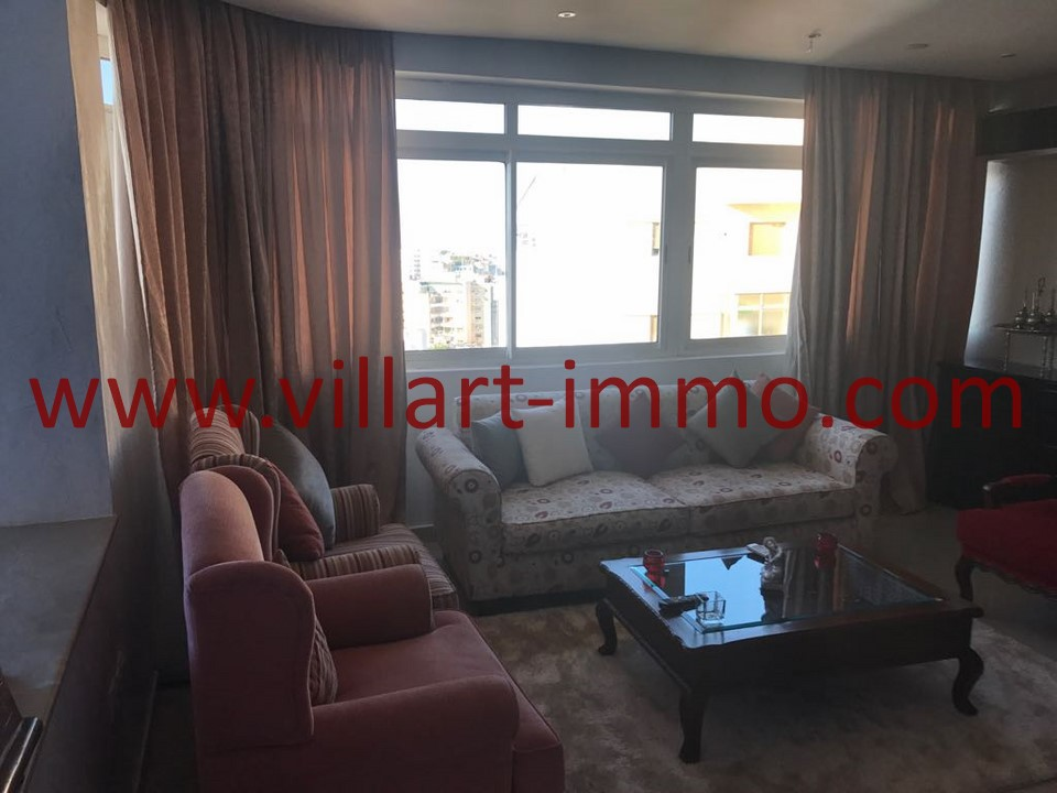 3-Location -Appartement-Tanger-Meublé-Ibéria-Salon-L1098