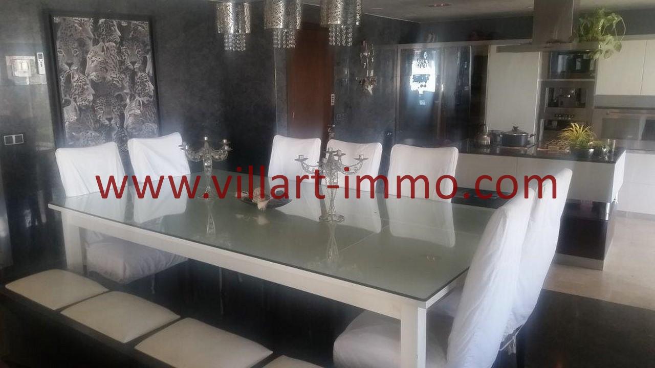 4-L1091-Location-Appartement-Meublé-Tanger-Salle à manger