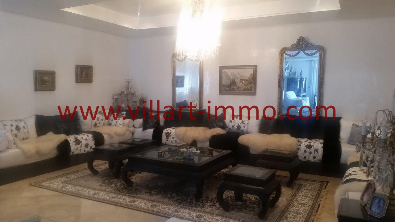 4-Location-Villa-Meublée-Tanger-Tanja Balia-Salon-LV1092