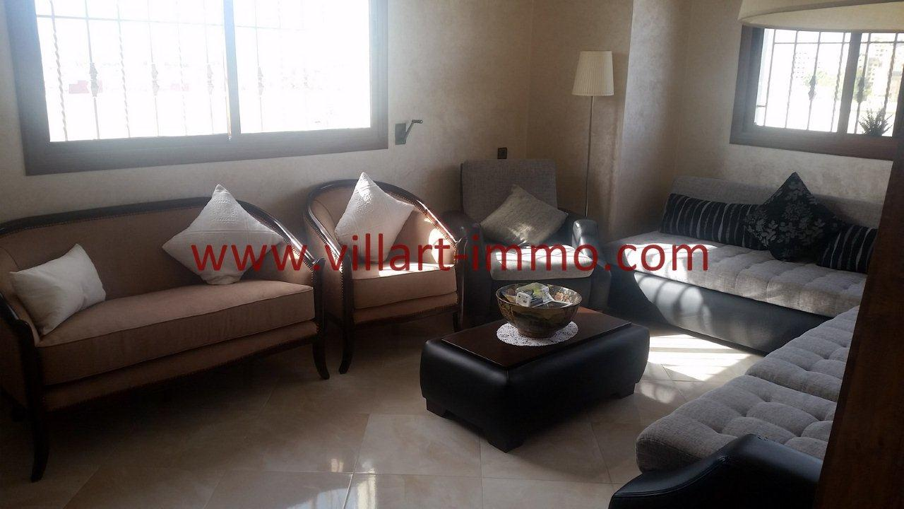 1-Vente-Appartement-Tanger-Moujahidine-Salon 1-VA548-Villart Immo