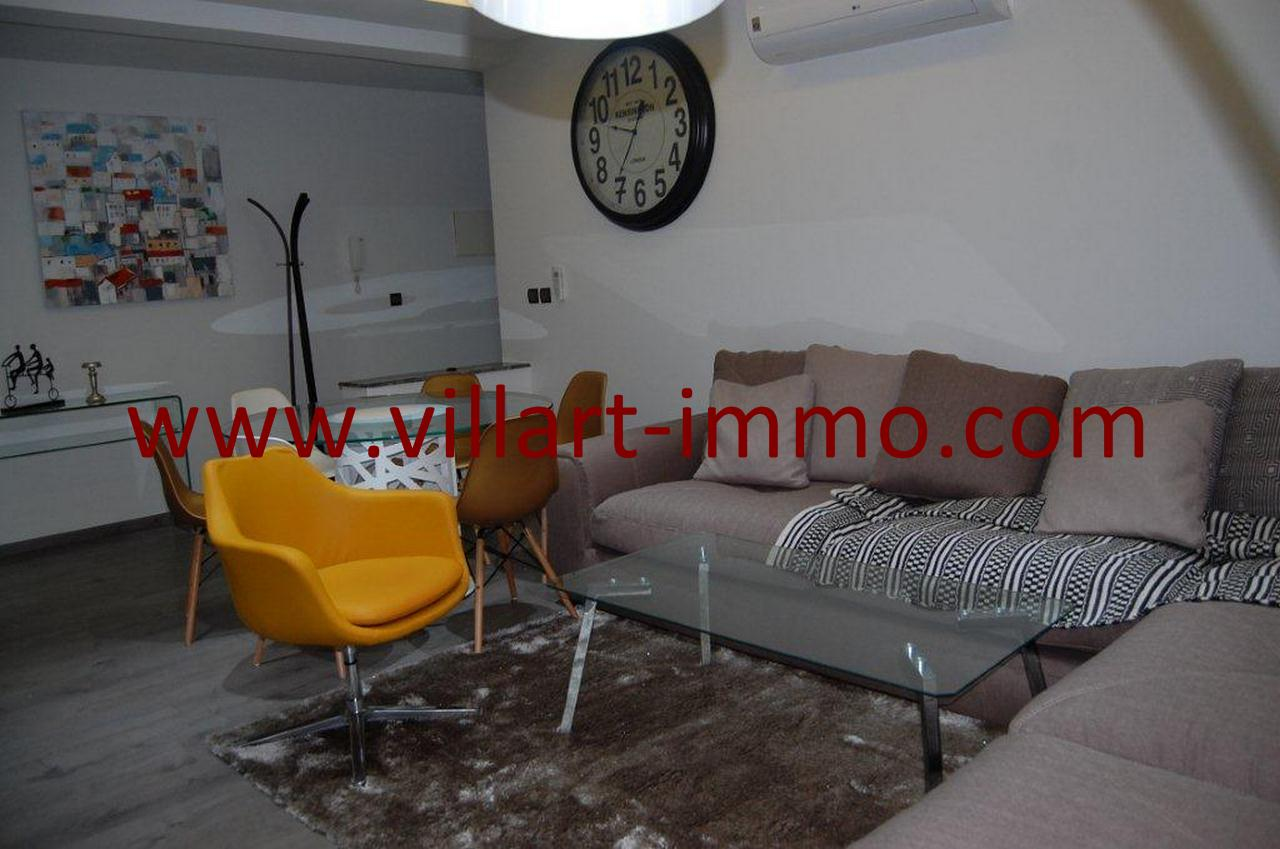 2-Location-Tanger-Appartement meublé-Malabata-Salon2-L1034