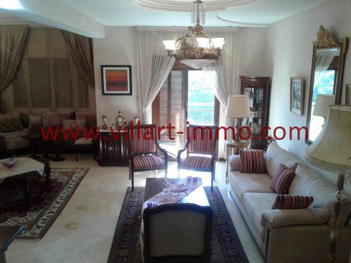 2-Vente-Appartement-Tanger-Boubana-VA564-Salon 1-Villart Immo
