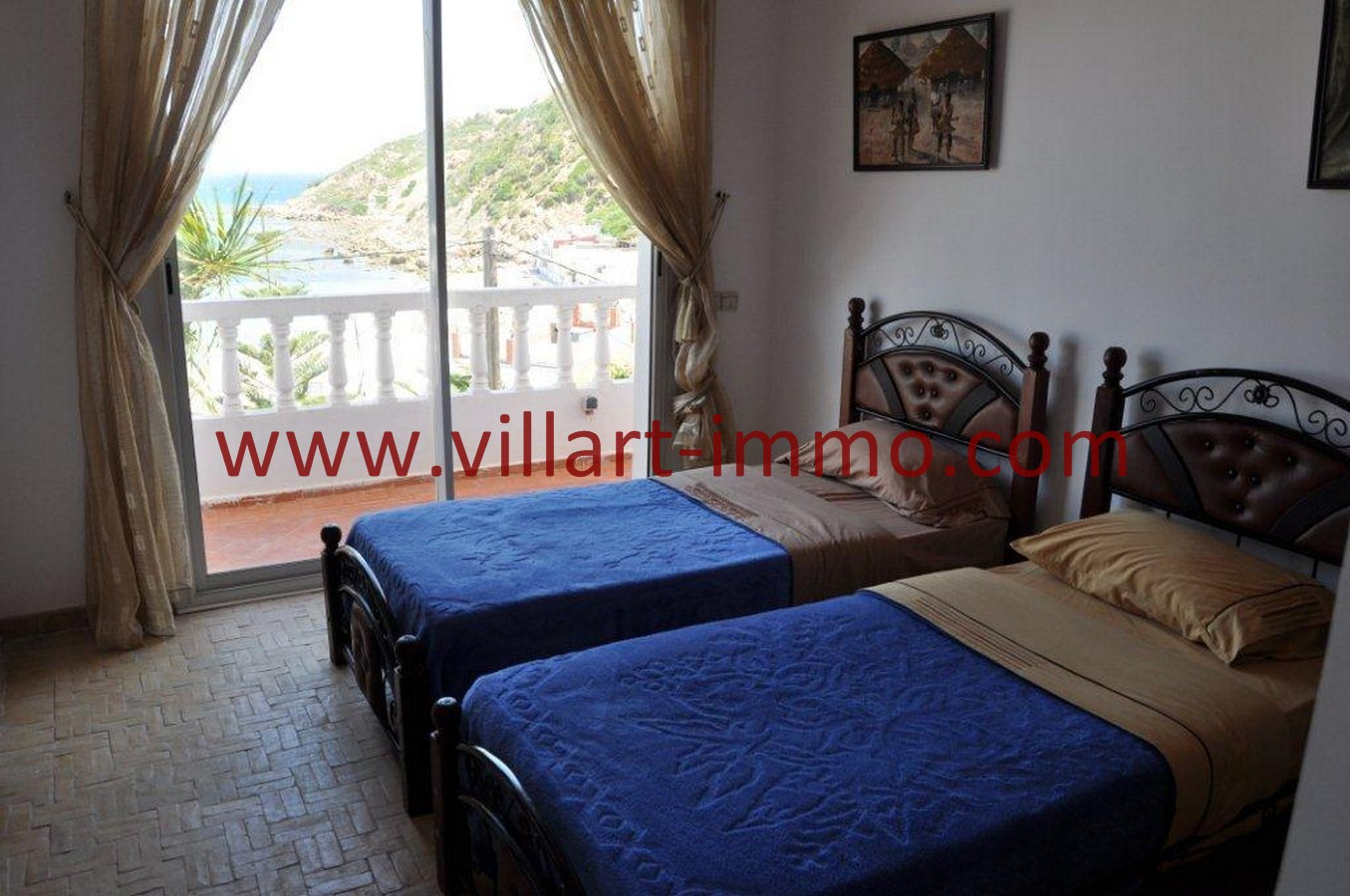 8-Vente-Villa-Tanger-Playa blanca-Chambre à coucher 1-VV551-Villart Immo