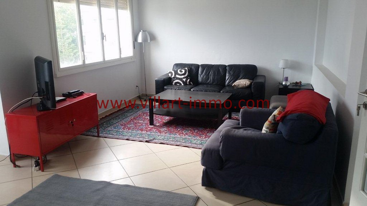 1-Location meublée-Appartement moderne-Tanger- Ibéria-salon-L1106