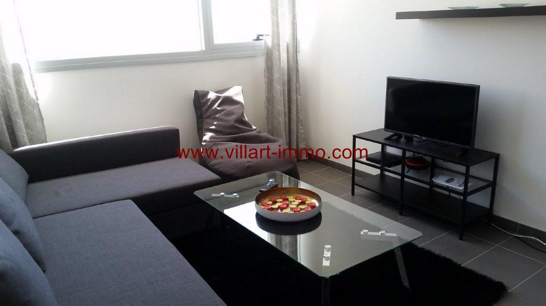 2-Location-Appartement-Meublé-Centre ville-F2-Salon-Agence Immobilier-Tanger-L1045