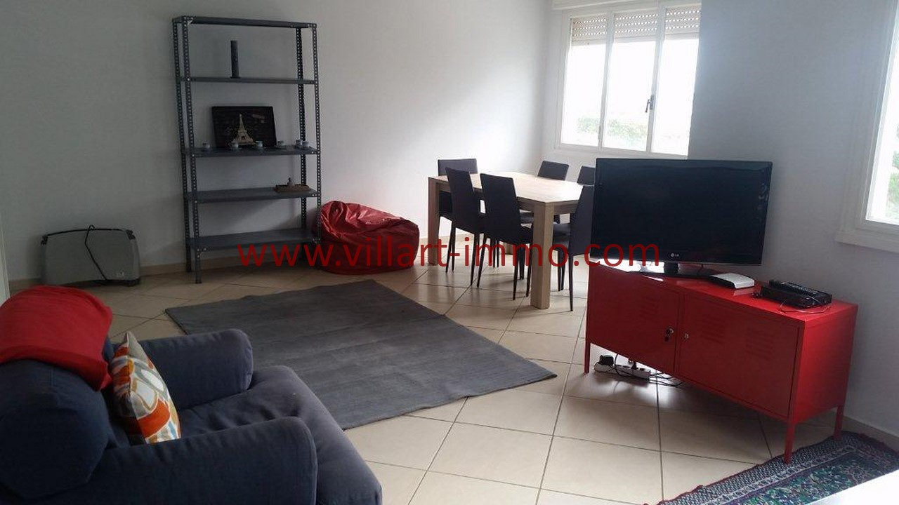 2-Location meublée-Appartement moderne-Tanger- Ibéria-Salon-L1106