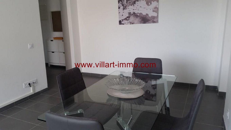 3-Location-Appartement-Meublé-Centre ville-F2-Salle à manger-Agence Immobilier-Tanger-L1045