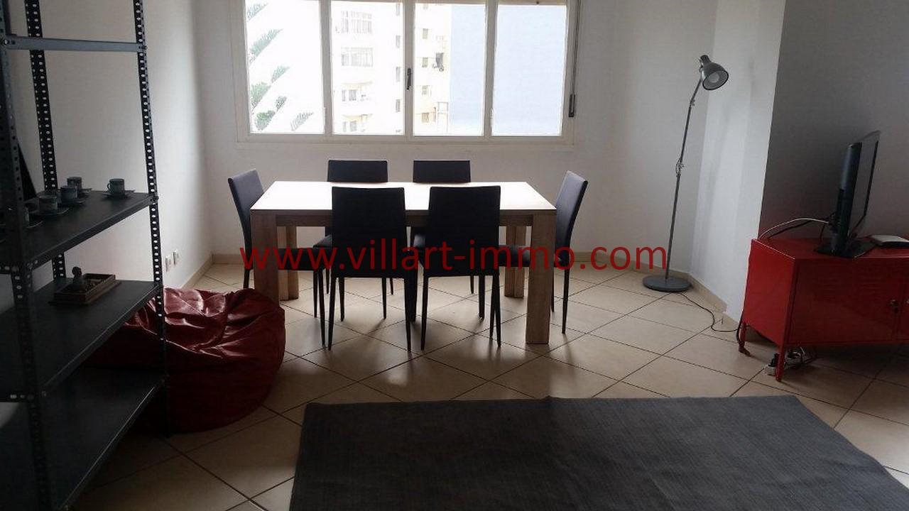 3-Location meublée-Appartement moderne-Tanger- Ibéria-Salle à manger-L1106