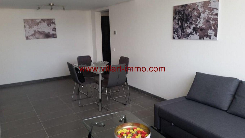 5-Location-Appartement-Meublé-Centre ville-F2-Salon-Agence Immobilier-Tanger-L1045