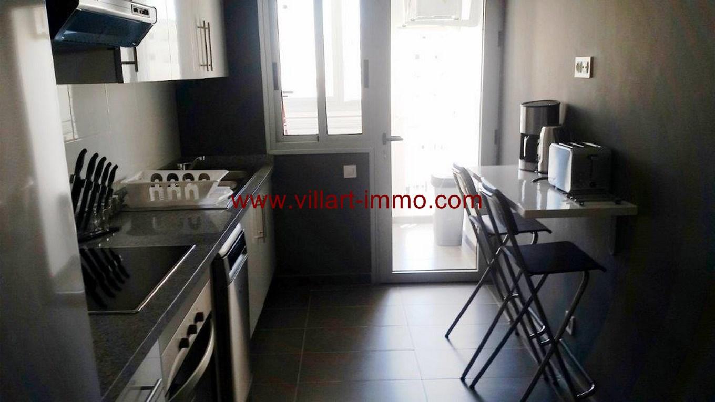 7-Location-Appartement-Meublé-Centre ville-F2-Cuisine-Agence Immobilier-Tanger-L1045