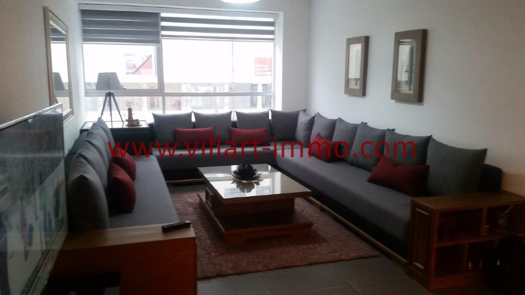 1-Location-Tanger-Appartement-Centre ville-Meublé-Salon-L1113