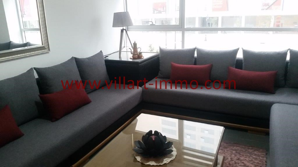 2-Location-Tanger-Appartement-Centre ville-Meublé-Salon-L1113