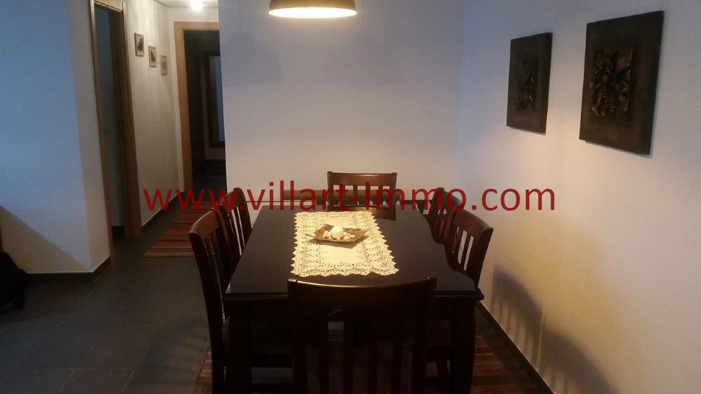 5-Location-Tanger-Appartement-Centre ville-Meublé-Sallle à manger-L1113