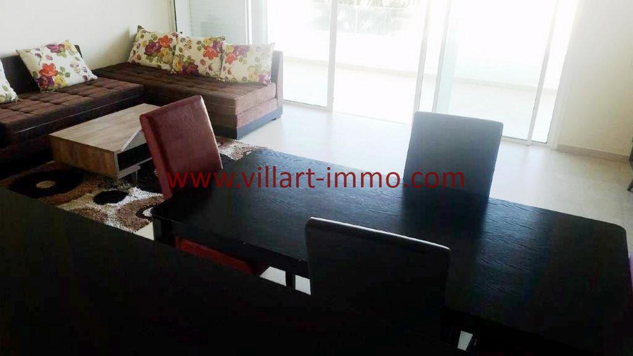 8-Location-appartement-meublé-Tanger-Salle à Manger-L1108