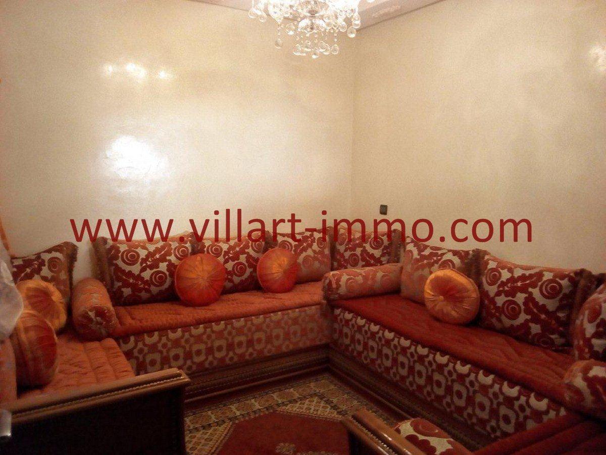 2-Vente-Appartement-Tanger-Val fleuri-Sejour-VA577-Villart Immo