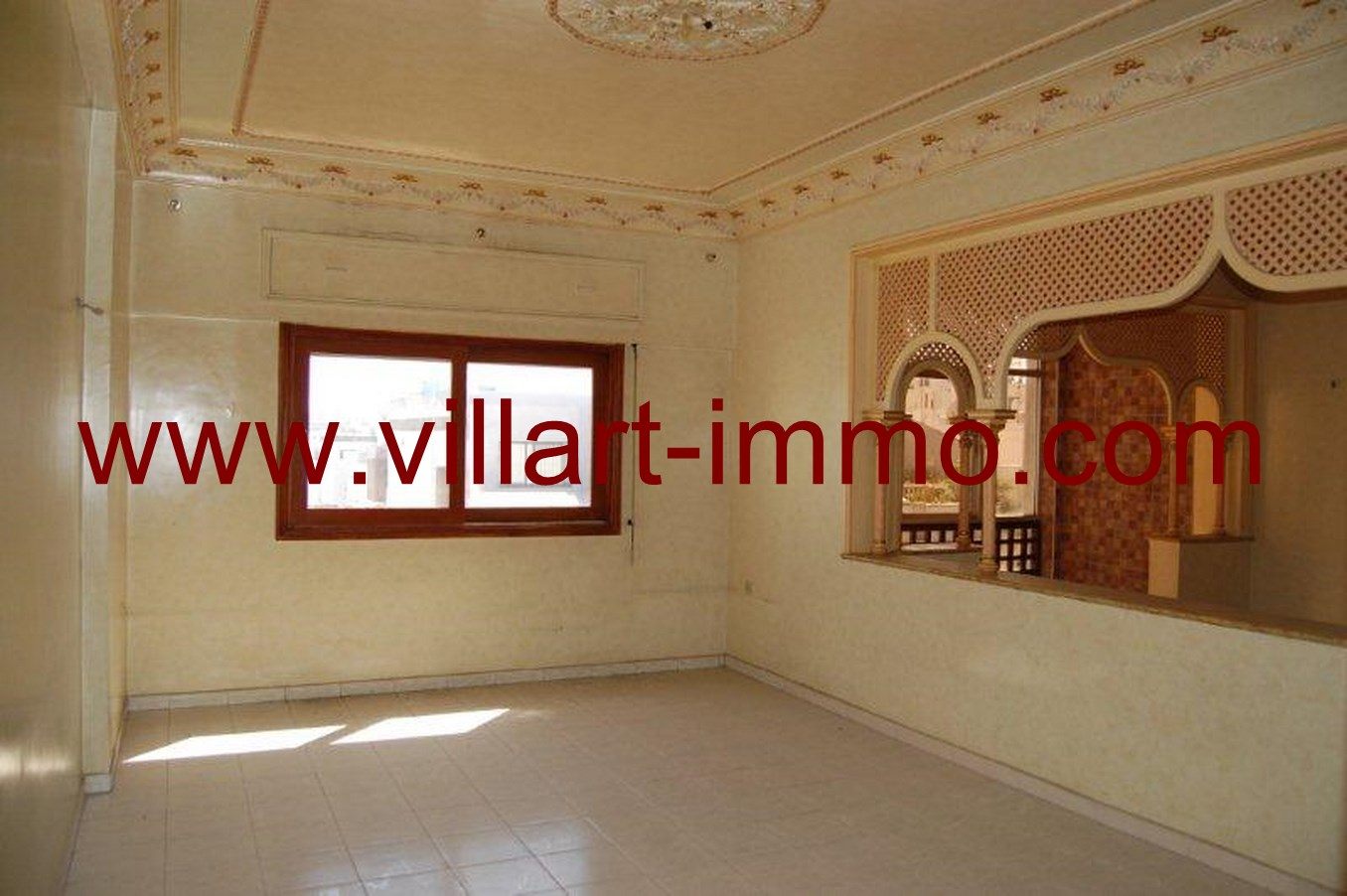 2-Location-Appartement- Non meublé-Tanger-Salon 2-L662-Villart immo