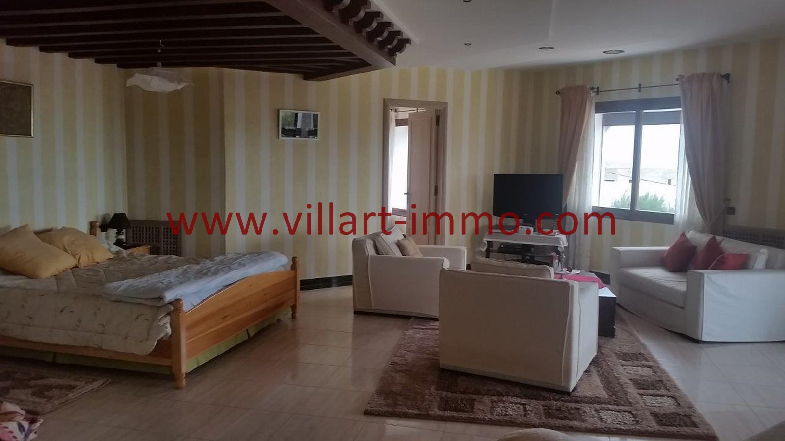14-A louer-Villa-Meublée-Tanger-Achakar-Chambre 4-LSAT914-Villart immo