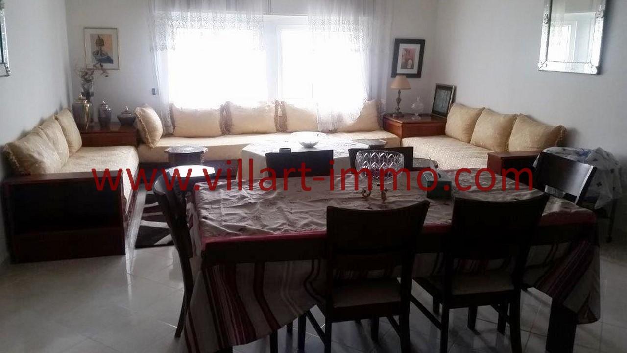 1-Location-Tanger-Appartement-Meublé-Centre ville-Salon-L1096