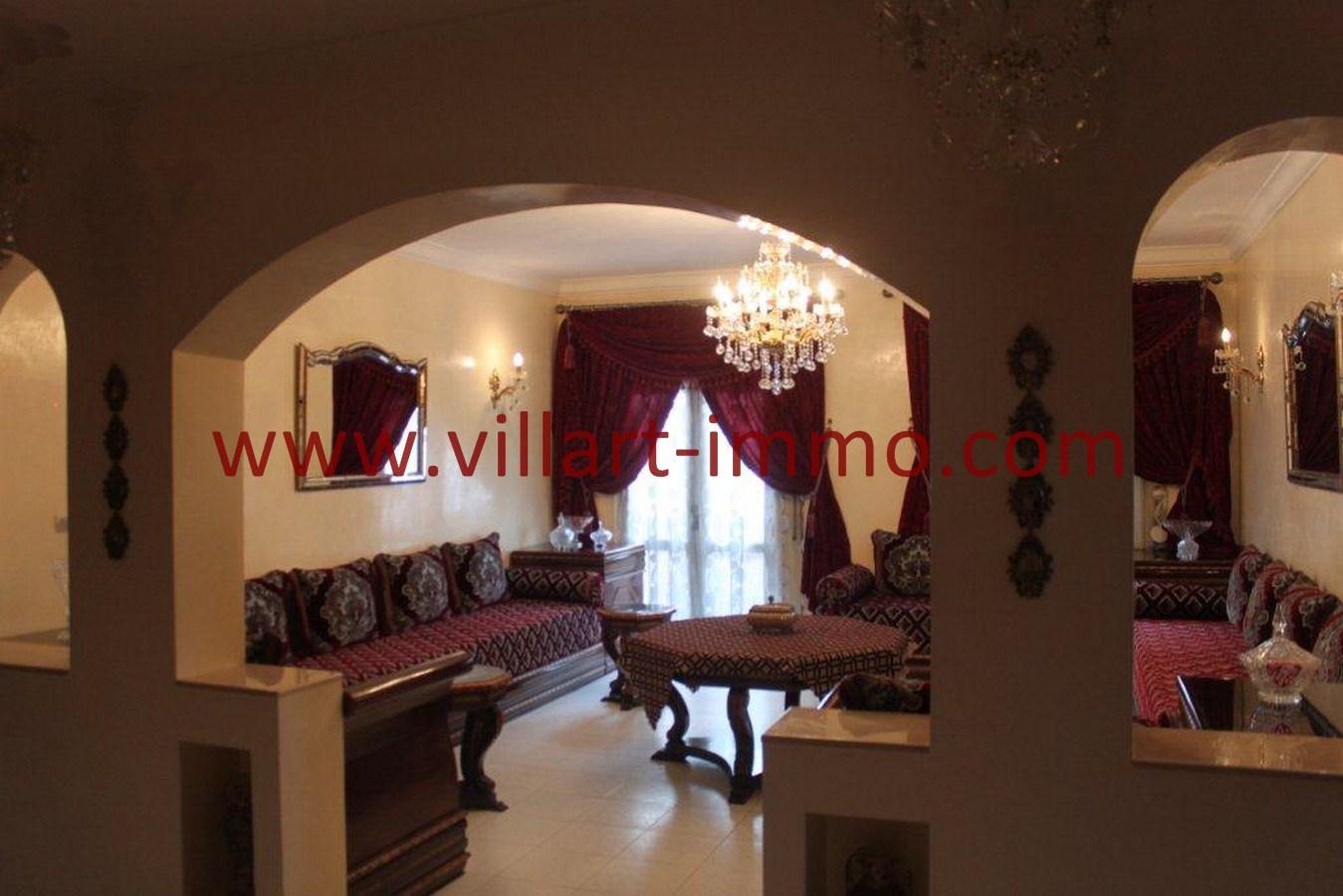 1-Vente-Appartement-Tanger-Dradab-Salon 1-VA549-Villart Immo