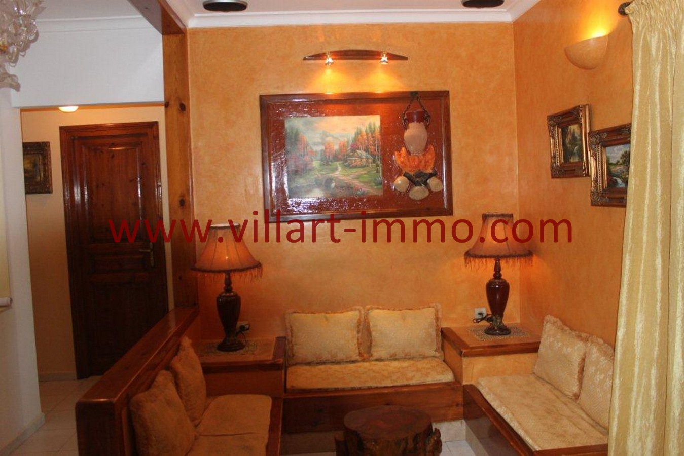 2-Vente-Appartement-Tanger-Dradab-Salon 2-VA549-Villart Immo