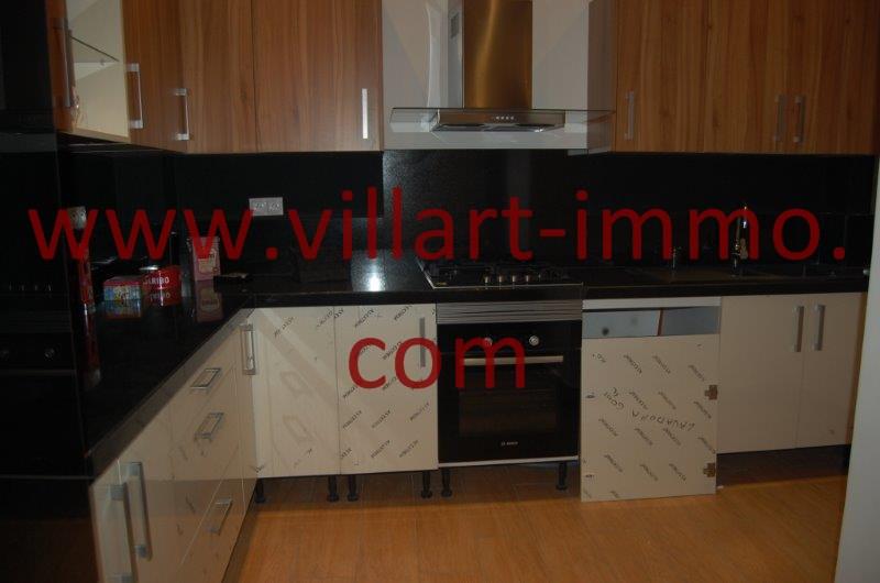 4-A louer-Appart-non meublé-Tanger- Cuisine américaine L1086-Villart immo- Maroc