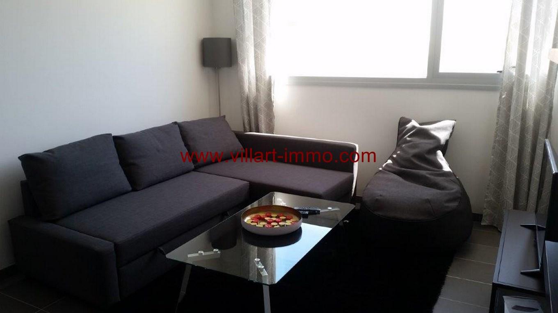 1-Location-Appartement-Meublé-Centre ville-F2-Salon-Agence Immobilier-Tanger-L1045