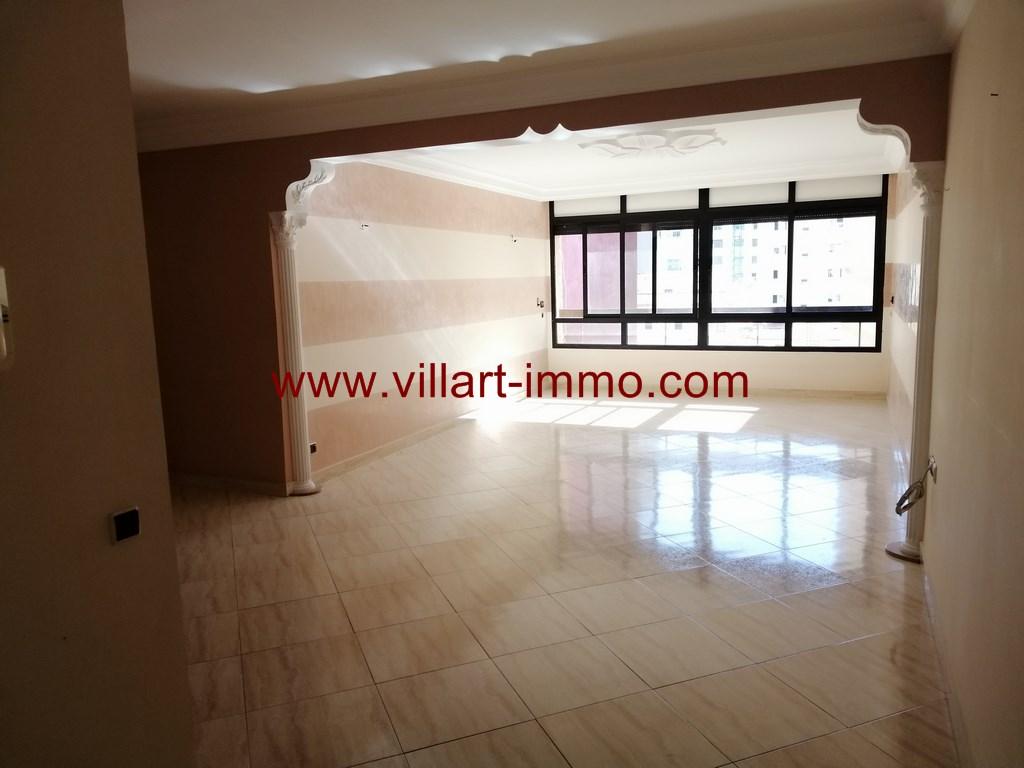 1-Location-Appartement-Non meublé-F3-Salon-Centre ville-Tanger-Agence immobilier-L1109