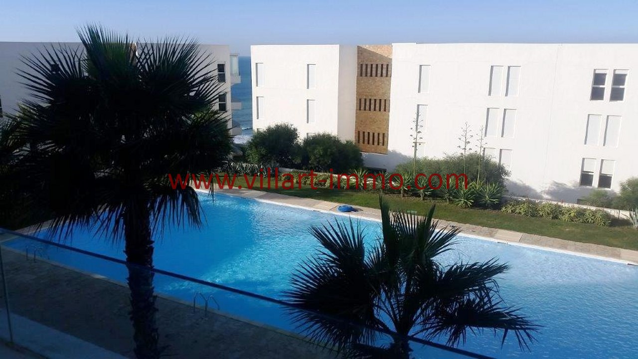 1-Alquiler-Apartamento-Amueblado-Tanger-Vista piscina-L1108