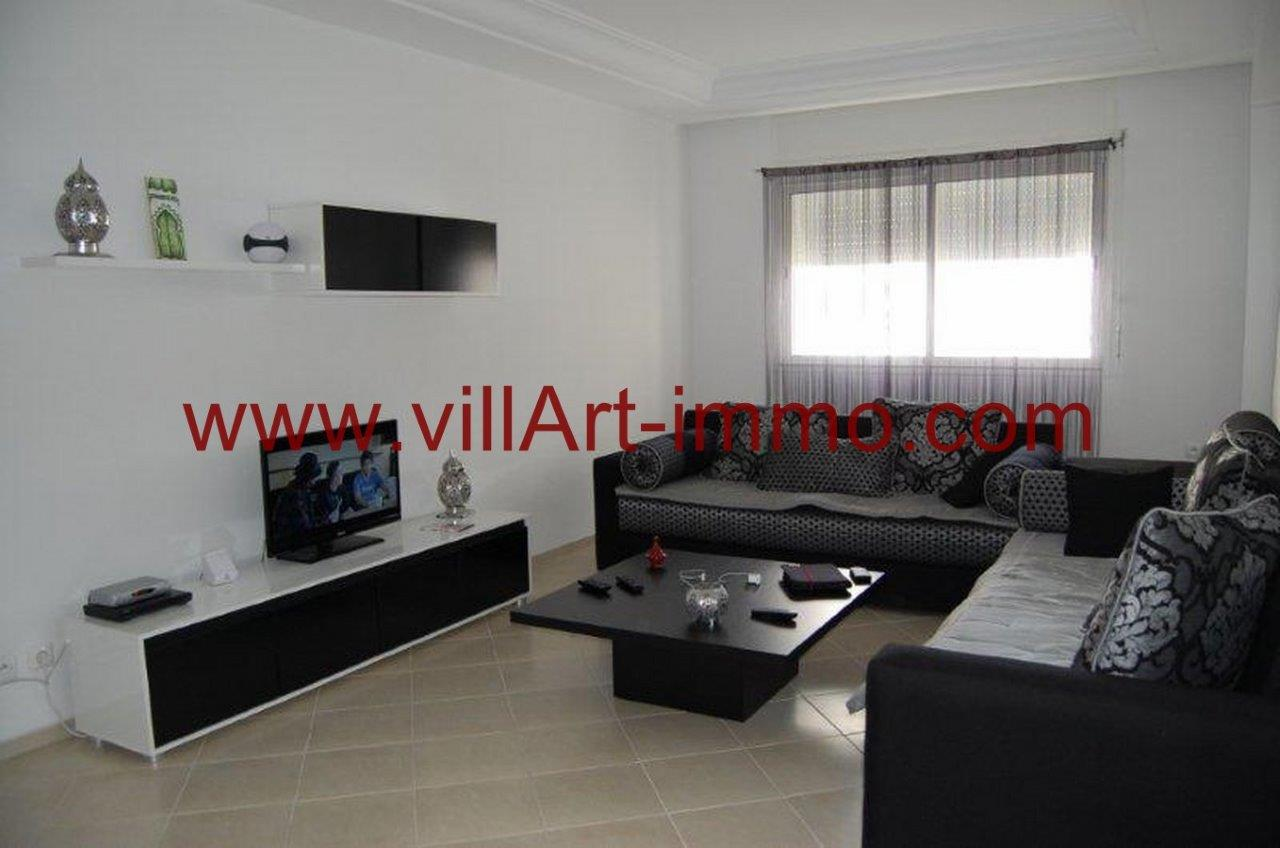 1-Vente-Appartement-Tanger-Branes-Salon 1-VA574-Villart Immo