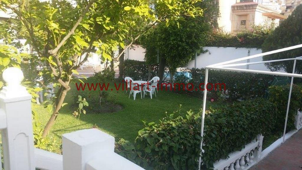 7-Alouer Villa meublée-Tanger-Jardin-LV1105-Villart